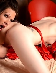 Gorgeous transsexuals Morgan & Mandy having oral