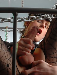 Dirty Delila toying herself in chains
