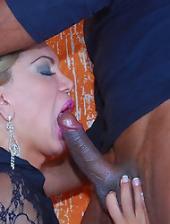 Horny tranny in hot inter-racial hardcore