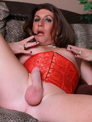 Pretty Reese shows her huge dick