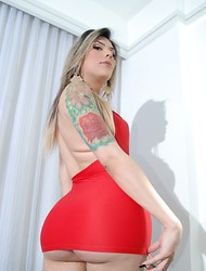 Lorena Di Castro is so Hot in that Sexy Red Dress Waiting to get Fucked