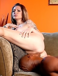 Sex change tranny gets her tight pussy filled with black dick