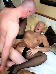 Naughty Melissa taking a big fat hard cock in her ass and mouth